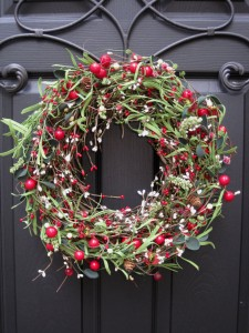 Christmas Wreath - Berry Wreath - Red Front Door Wreath - Front Door Wreath
