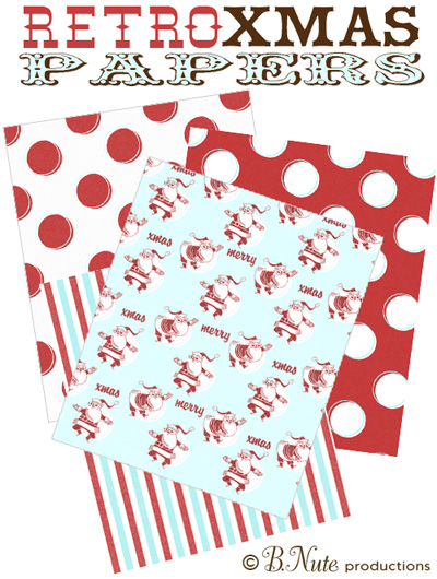 Freebie : Printable Christmas Papers