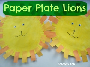 paper plate lions