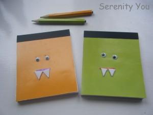 handmade mini monster notebboks