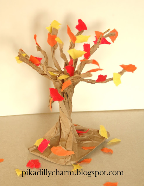 Paper Bag Fall Tree1