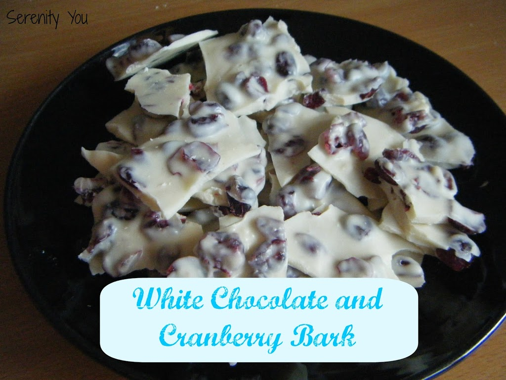 White Chocolate and Cranberry Bark
