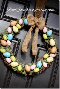 Easter Egg Wreath www.RealSouthernLiving.com