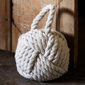 Nautical design rope door stop