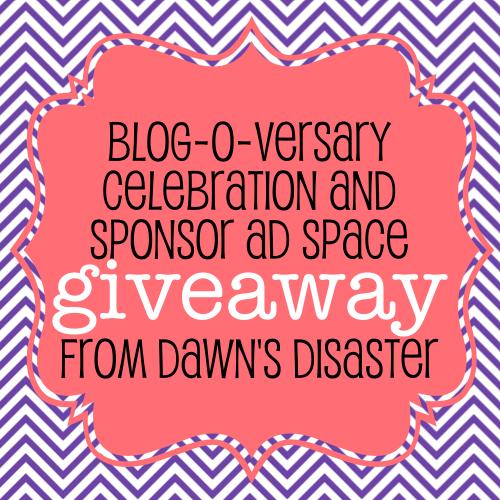 Dawn's Disaster Blog-O-versary Giveaway!!!