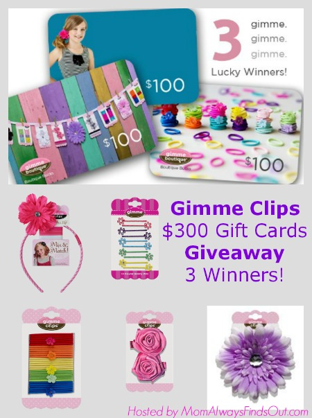 Gimme Clips Giveaway! $100 Gift Card for each 3 winners!