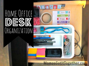 home office desk organization