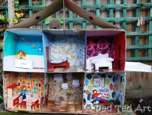 cardboard box dolls house diy