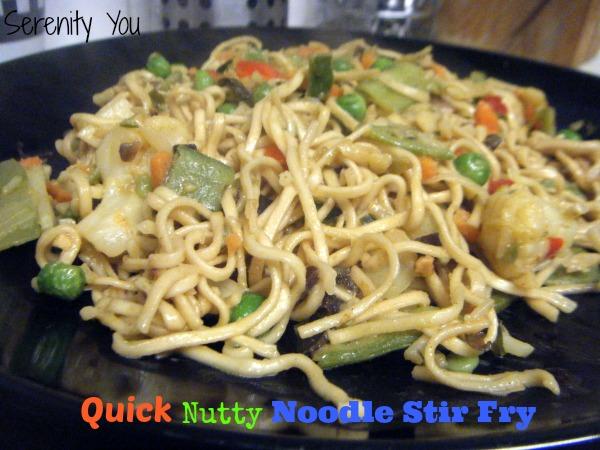 Quick nutty noodle Stir fry