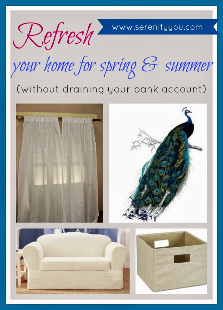 spring cleaning and decorating on a budget