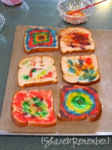 Rainbow Painted Toast