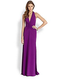 Radiant Orchid Evening Dresses Brightens the Year of 2014