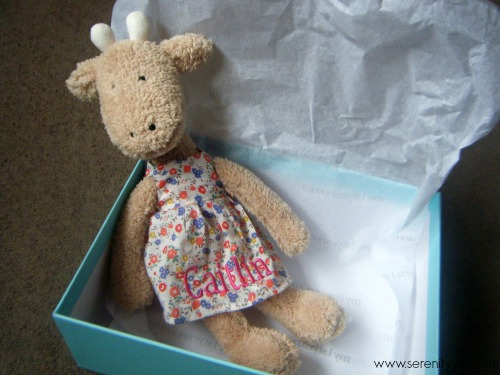 Personalized soft toy giraffe from my 1st years
