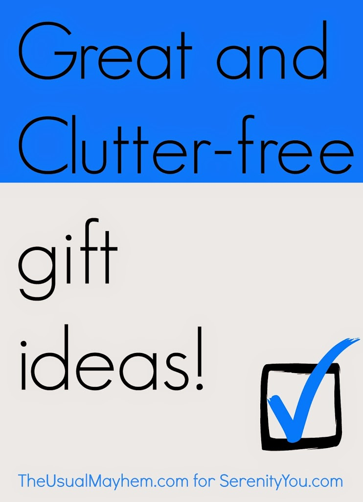 clutter-free gift ideas for the holidays