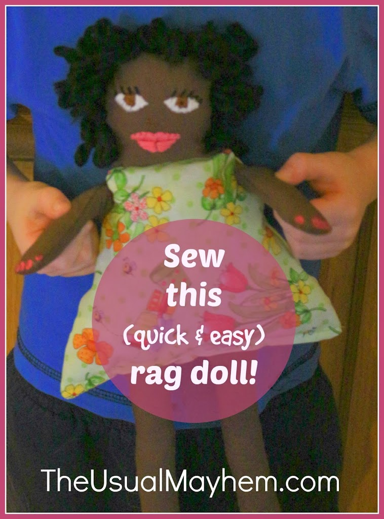sew this quick and easy rag doll