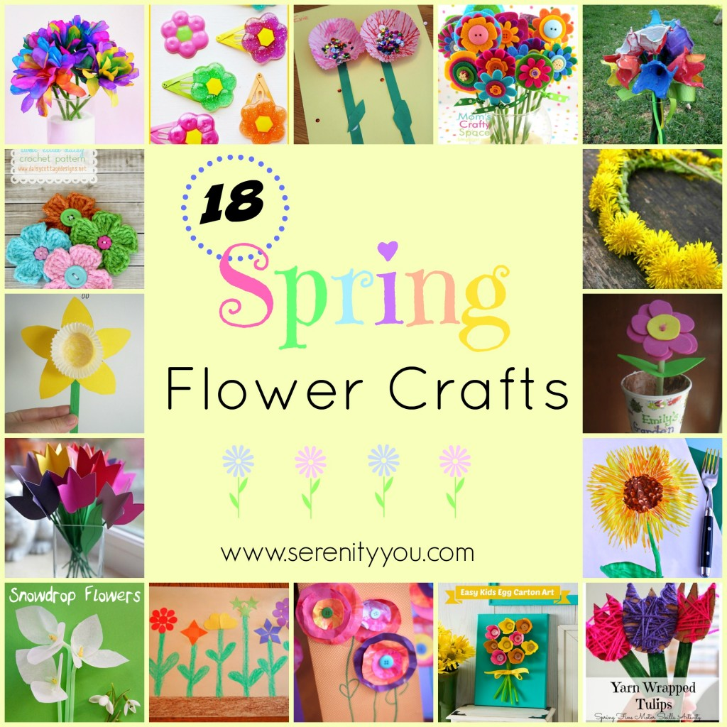 18 Spring Flower Crafts