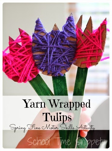 yarn wrapped tulips cover
