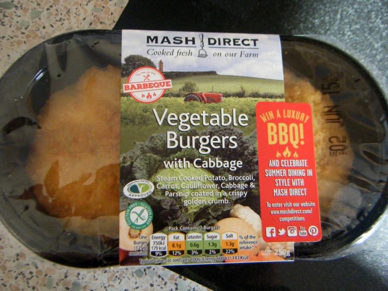 mash direct vegetable burgers