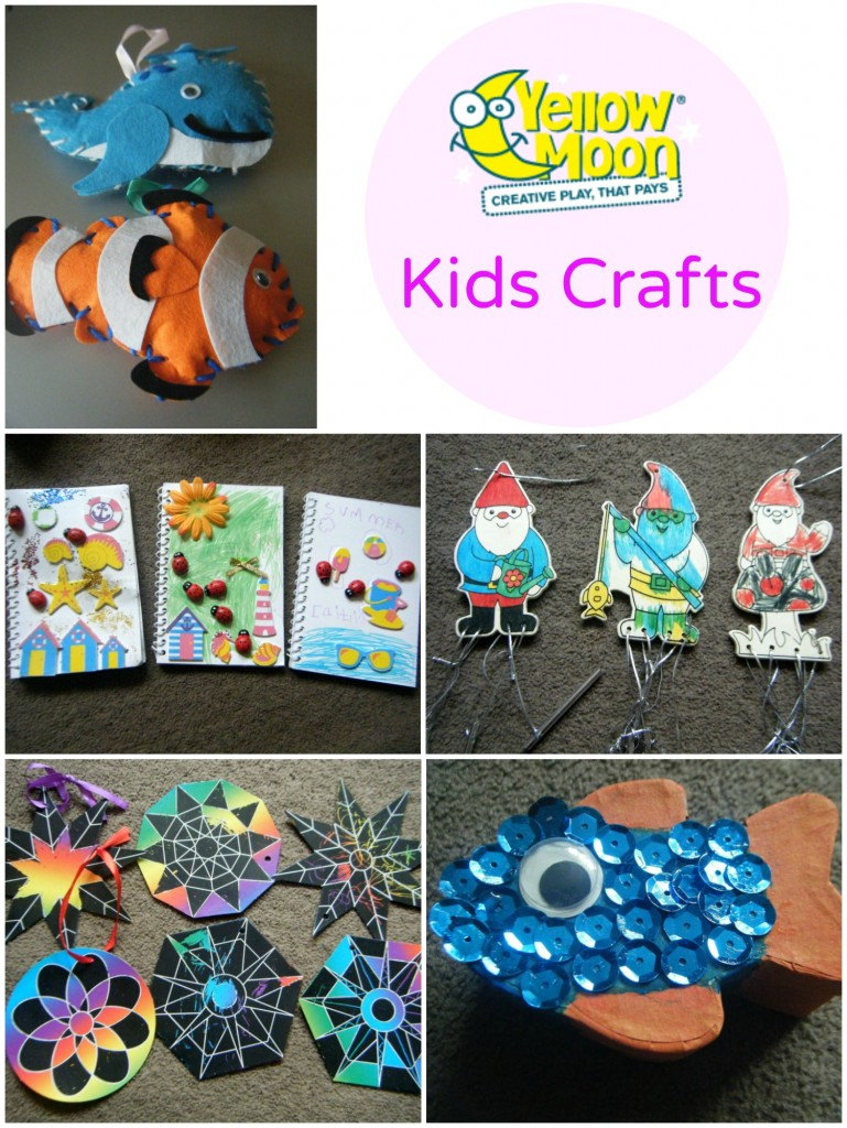 yellow moon kids crafts collage