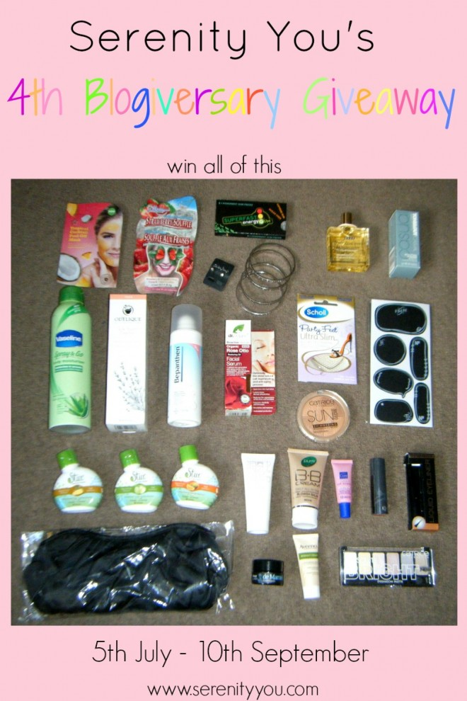 blogiversary giveaway image