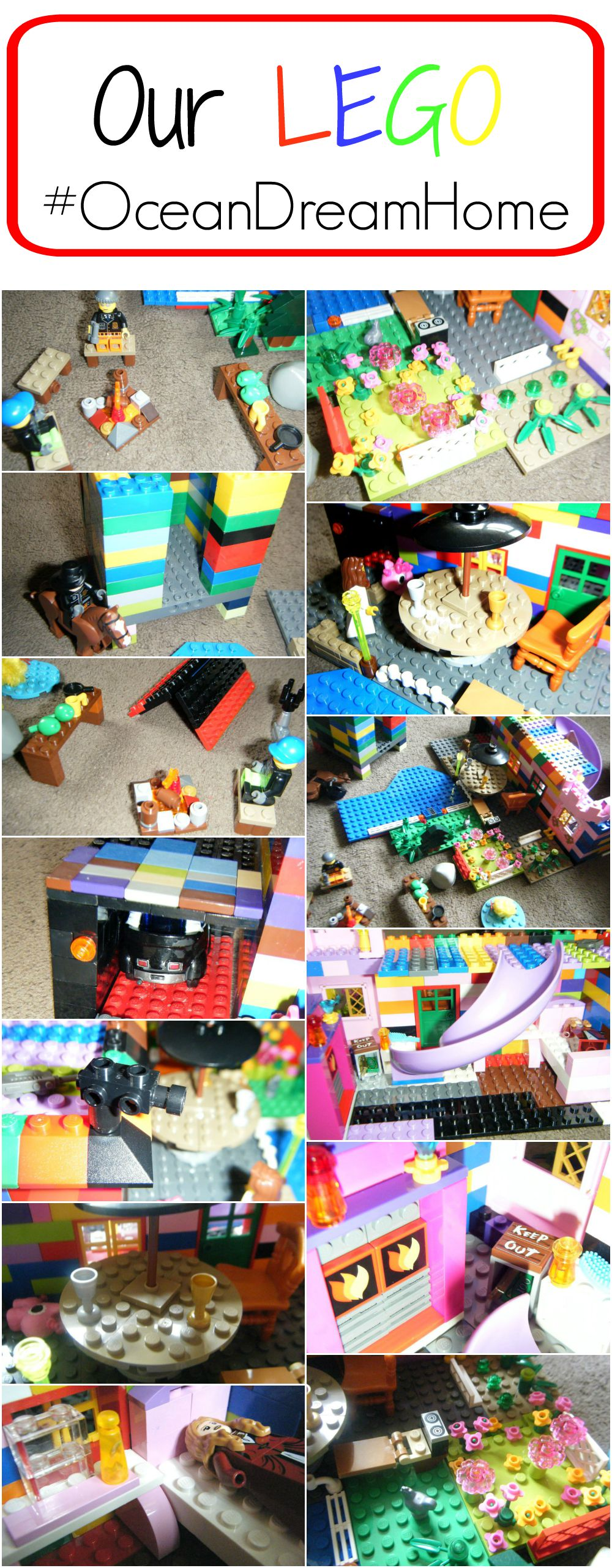 our lego dream home collage