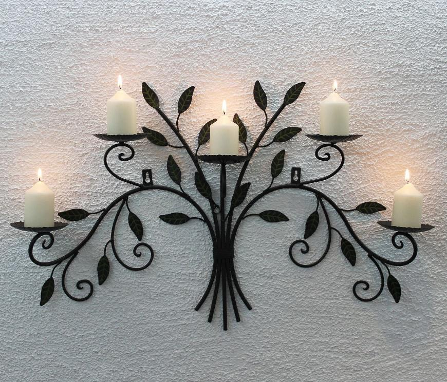 decorate your bedroom walls with this beautiful candle holder