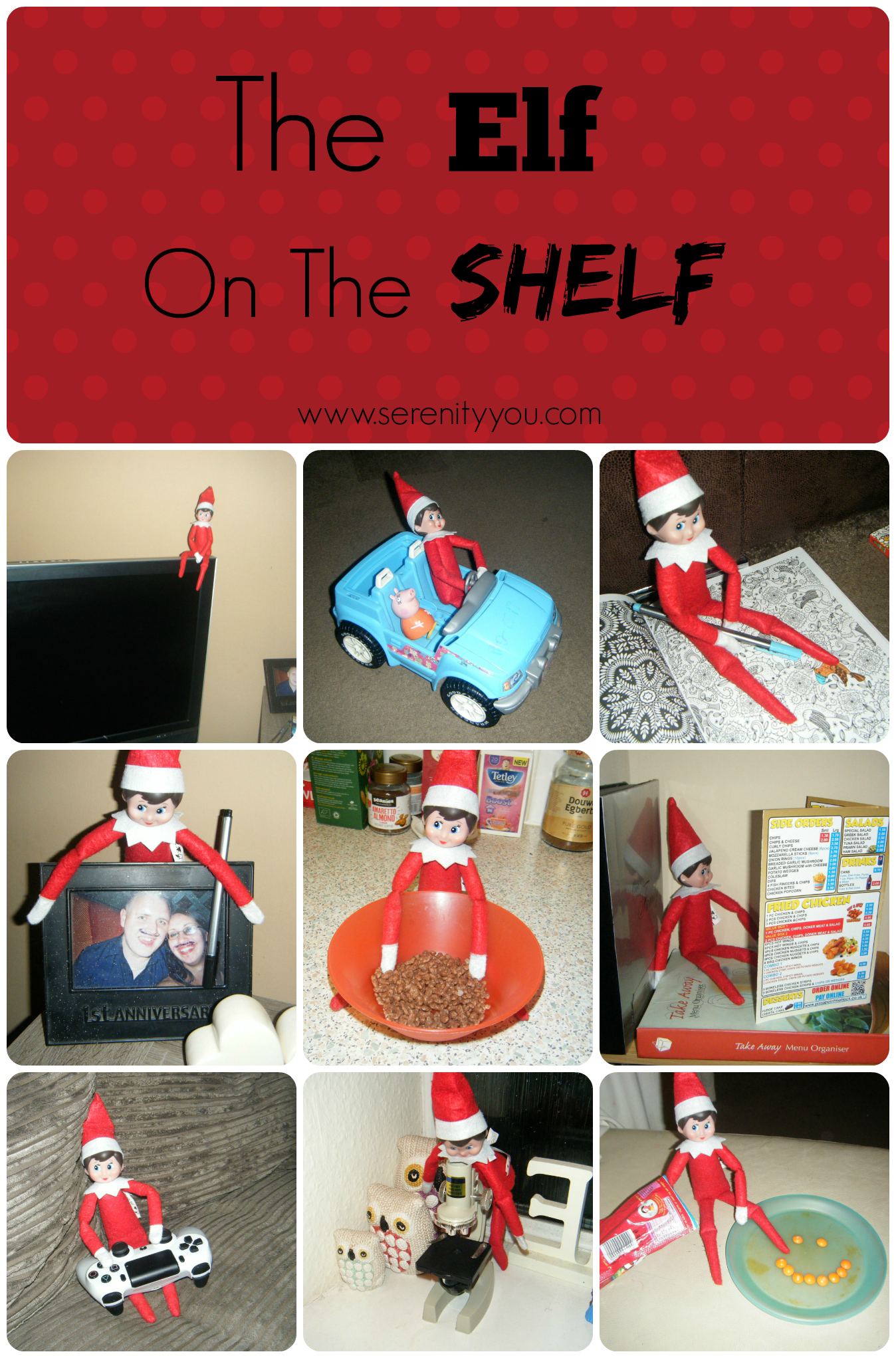 The Elf on the Shelf Collage