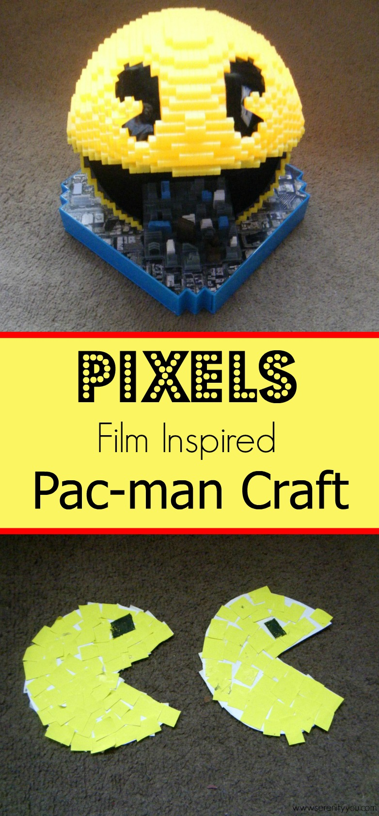 pixels film inspired pac man craft