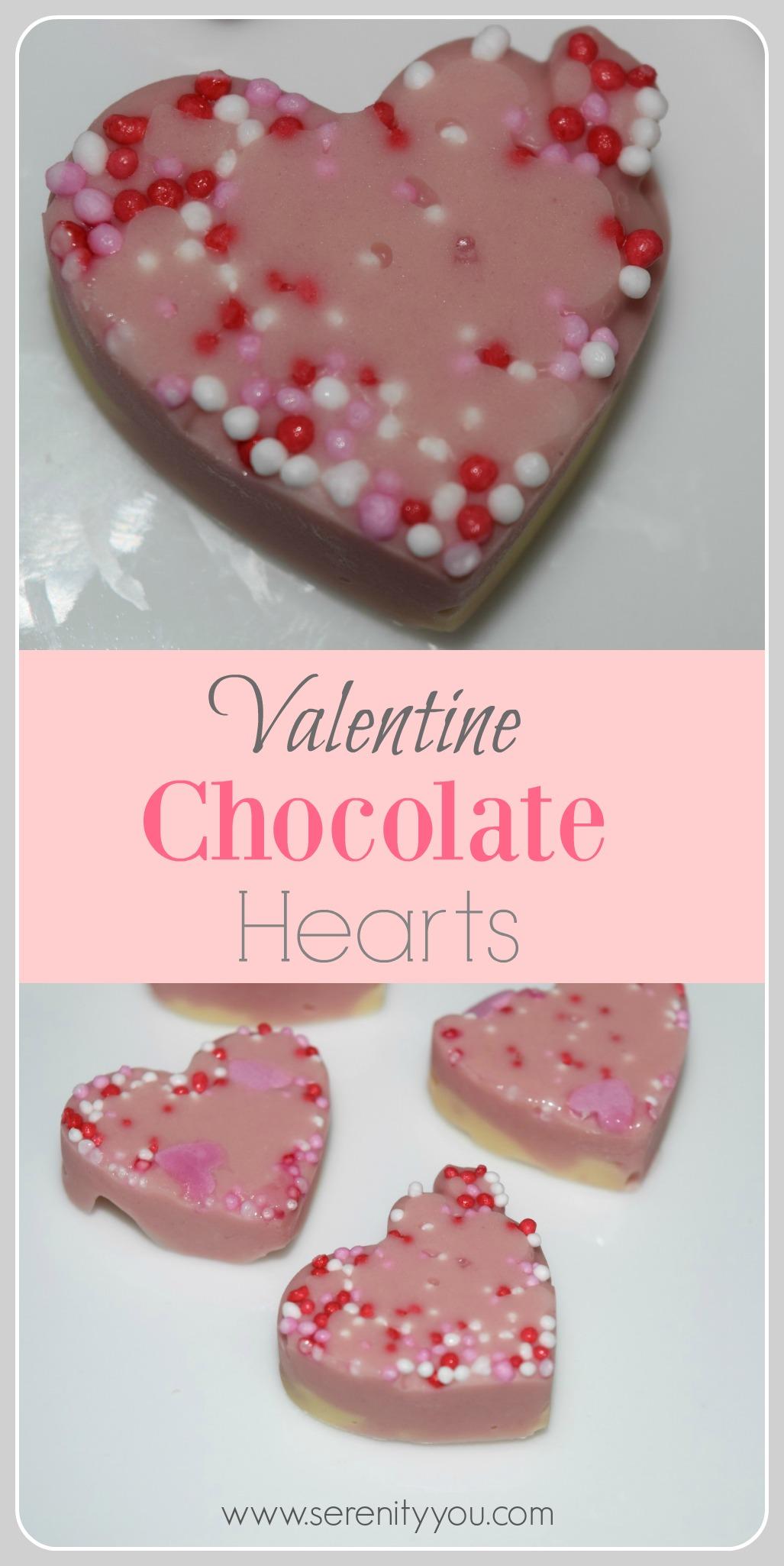 valentine chocolate hearts Collage
