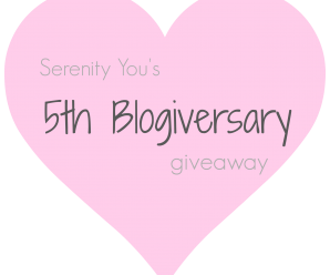 My 5th Blogiversary Giveaway