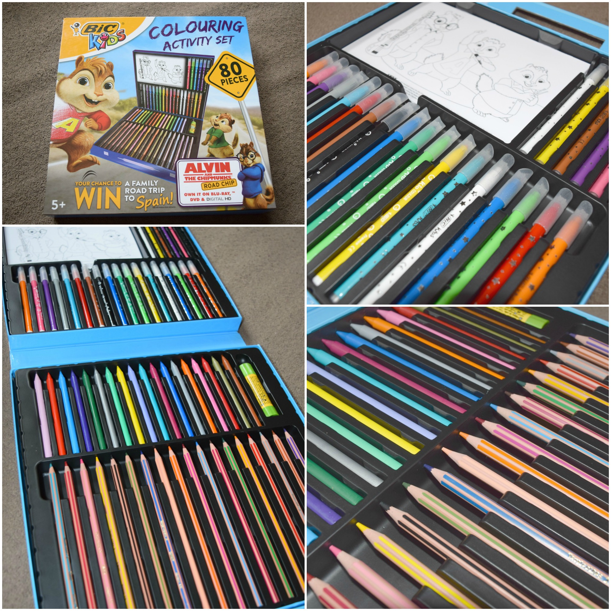 bic colouring set Collage