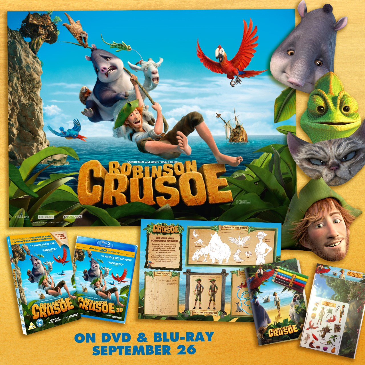 Win Robinson Crusoe DVD & Goodies on Serenity You
