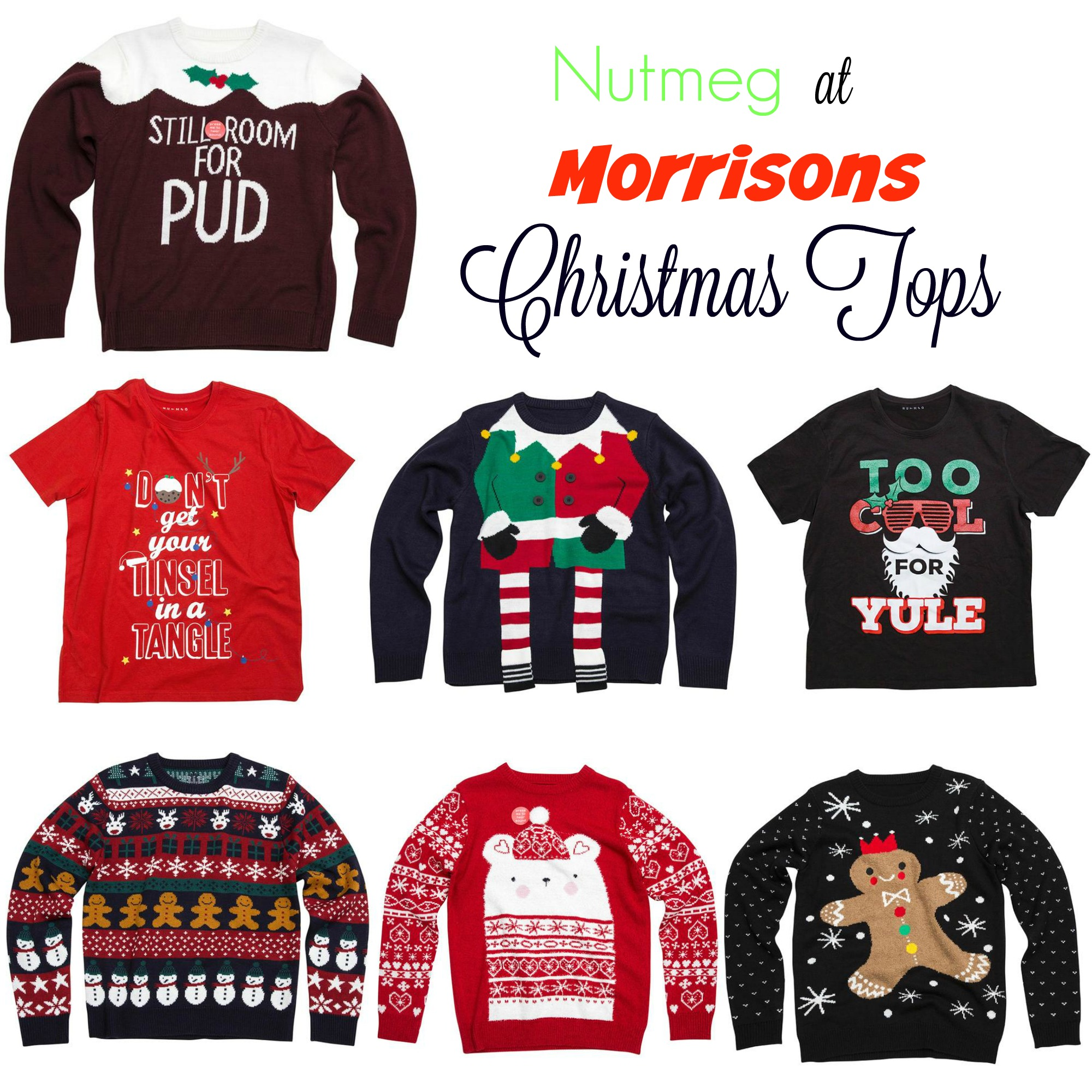 Christmas Tops.Fun Christmas Jumpers From Morrisons Serenity You
