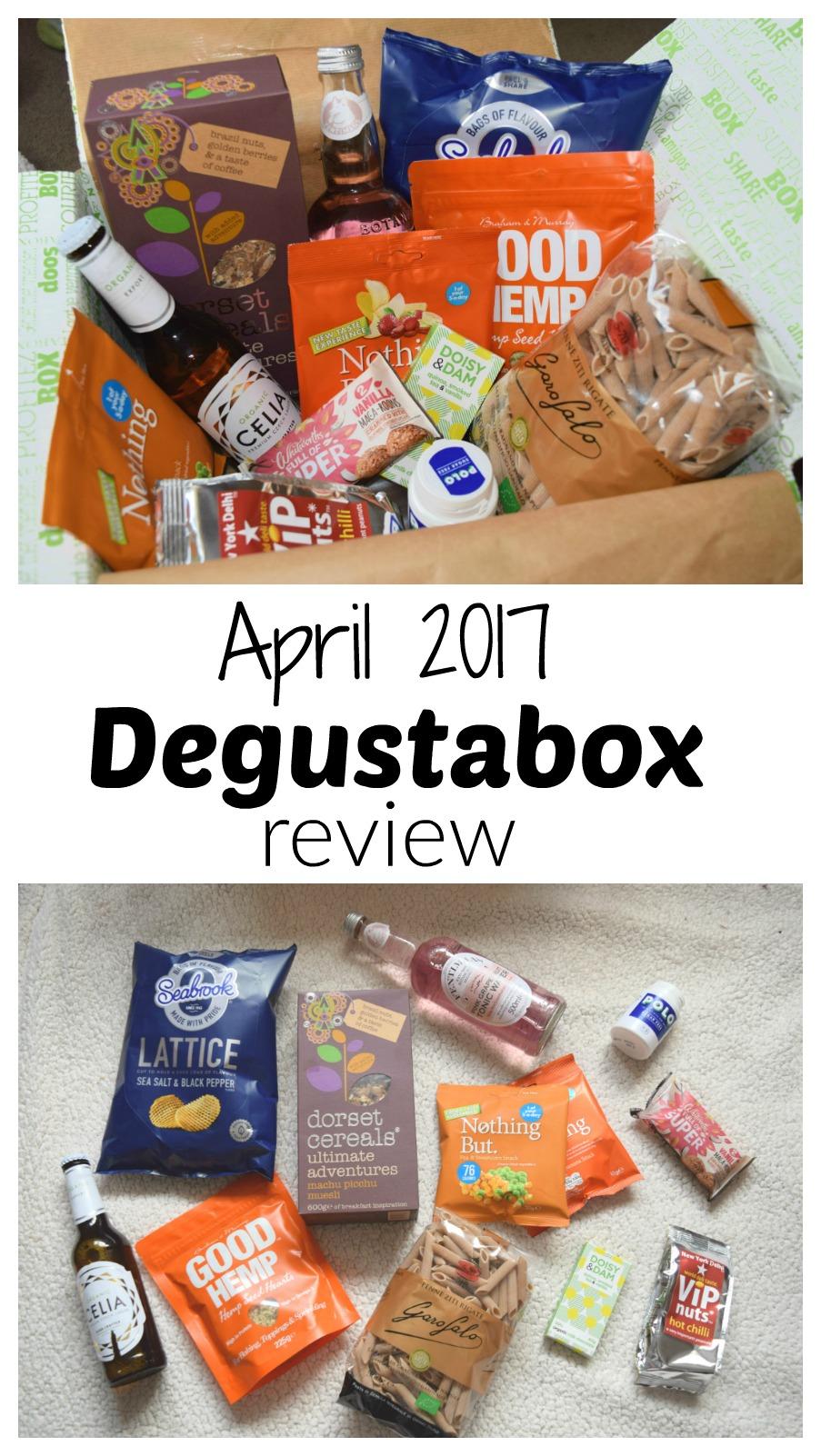 April 2017 Degustabox review