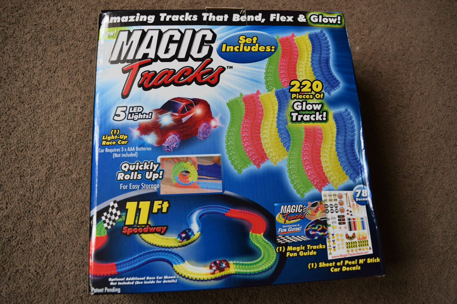 Magic Tracks with motorised light up car review