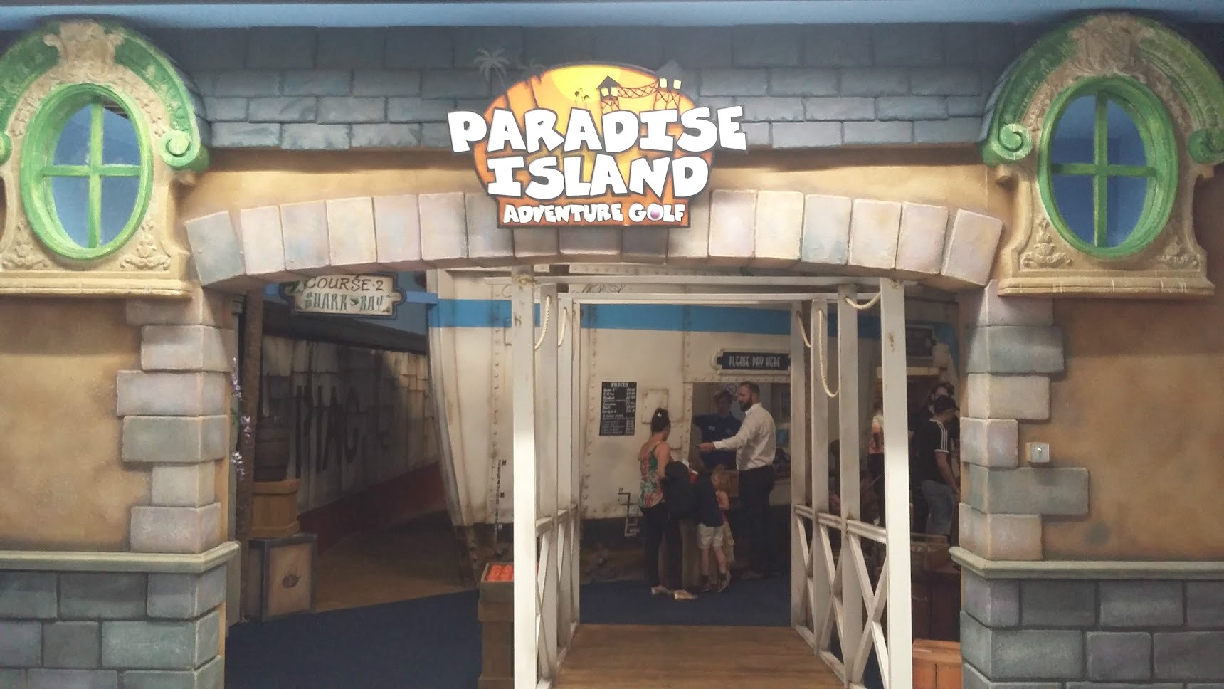 Our Trip to Paradise Island Adventure Golf at the Intu Centre Derby review