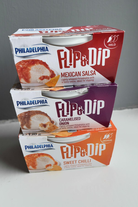 Philadelphia flip and dip
