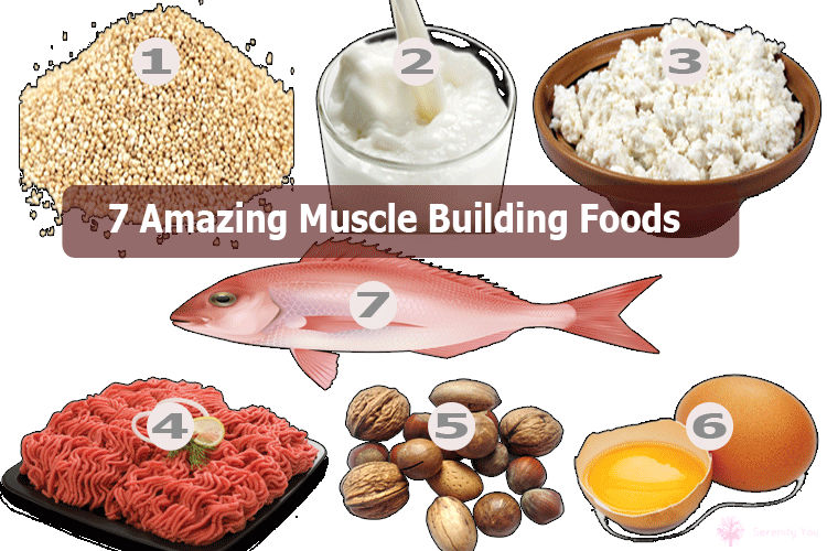 7 Amazing Muscle Building foods