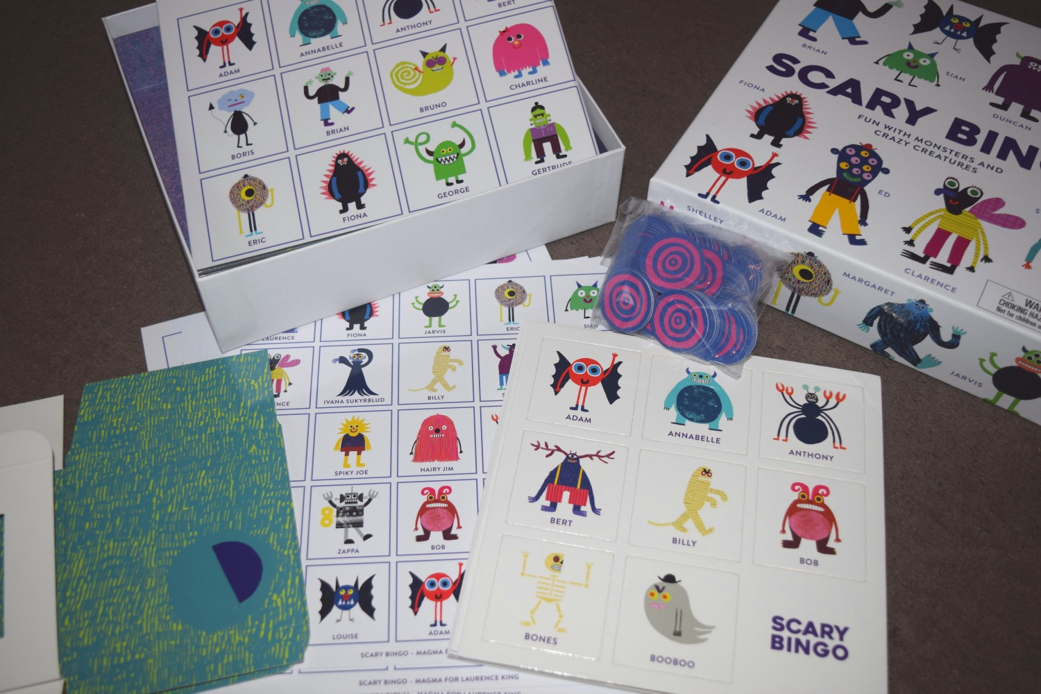Scary Bingo Game Review & Giveaway
