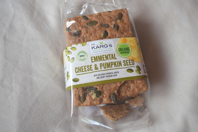 Dr . Karg's Organic Emmental Cheese & Pumpkin Seed Crispbread