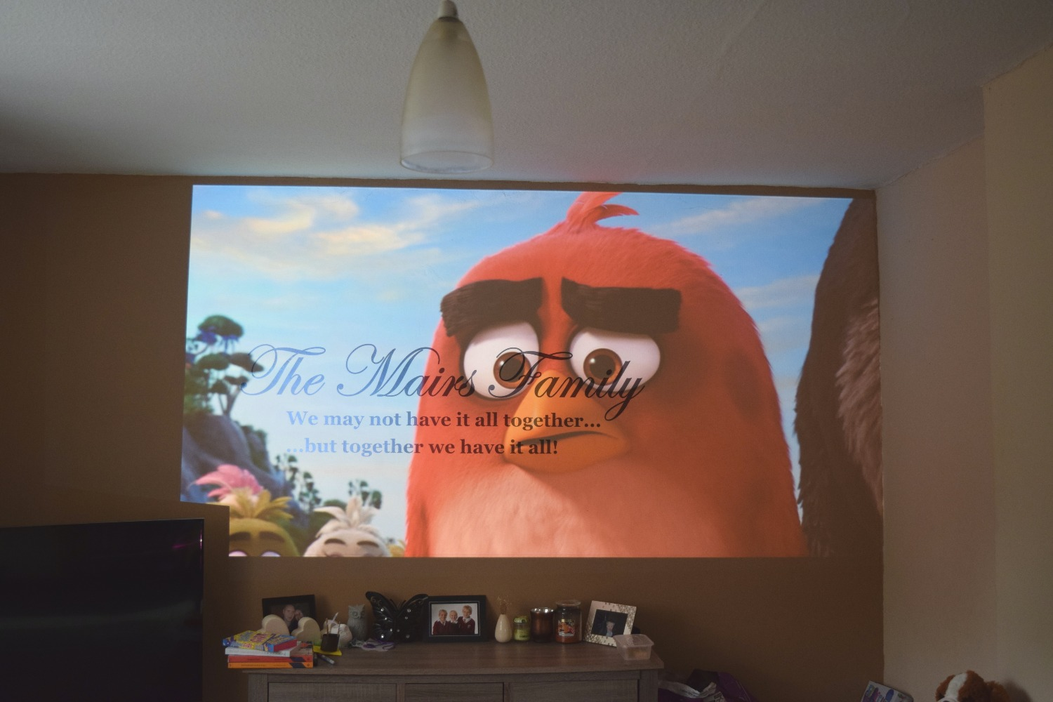 angry birds movie on epson projector