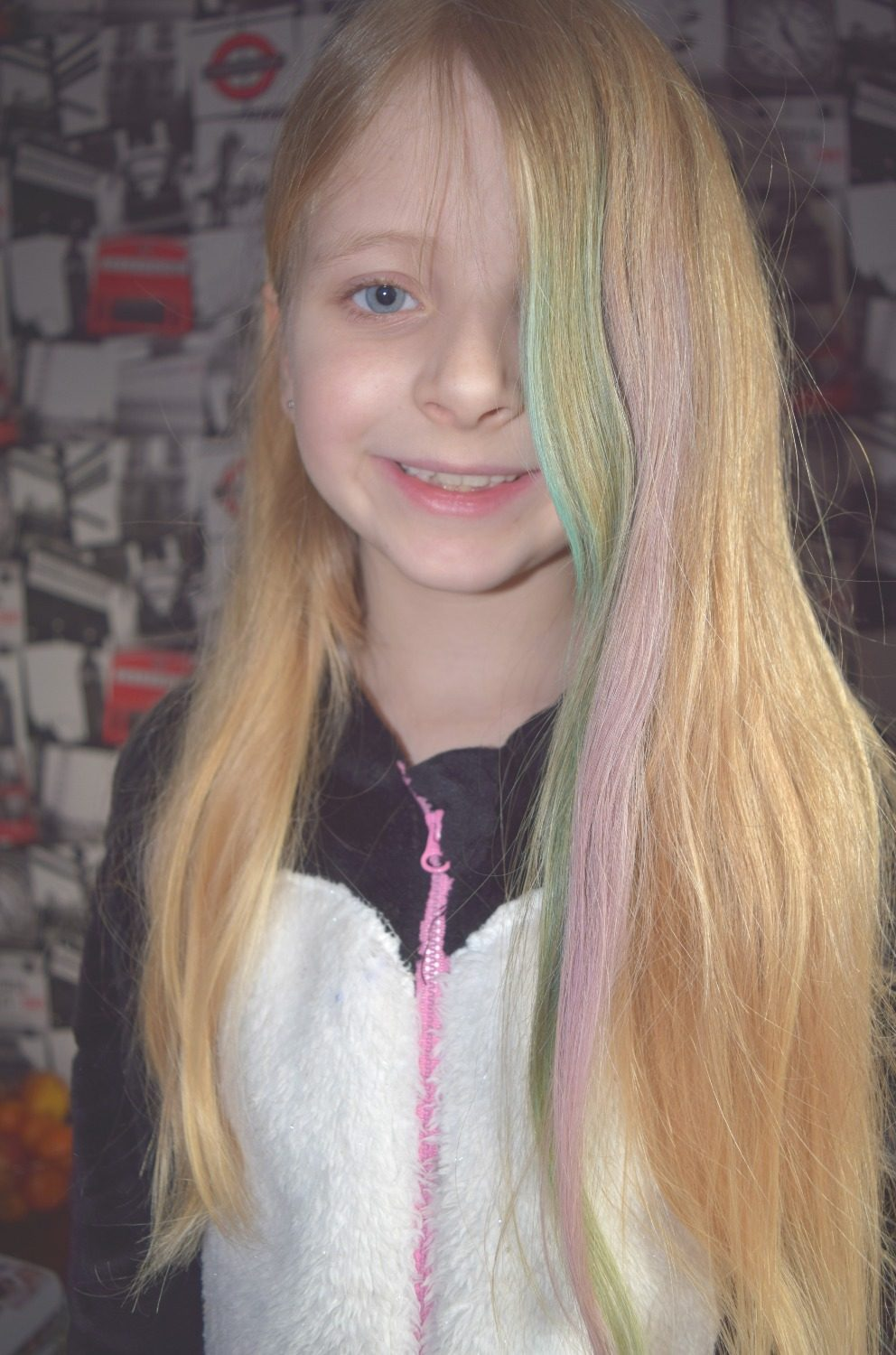 Caitlin with more hair chalk