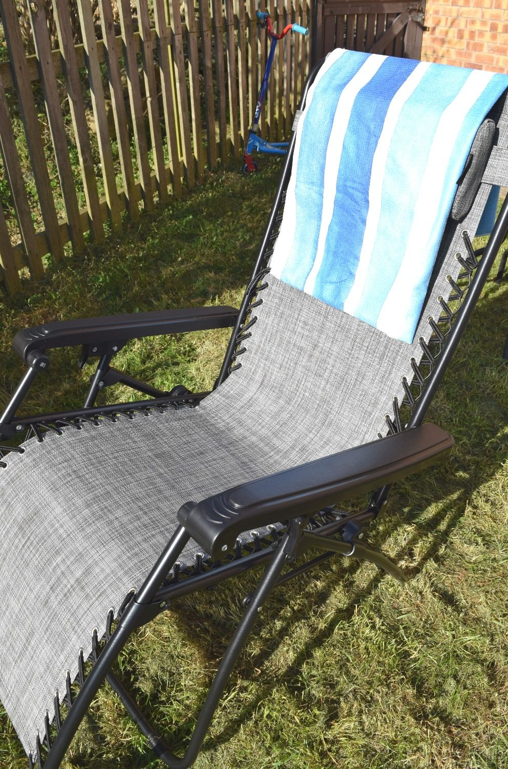 getting ready for summer with my zero gravity chair and beach towel